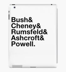 George Bush Cabinet Ampersand Design iPad Case/Skin