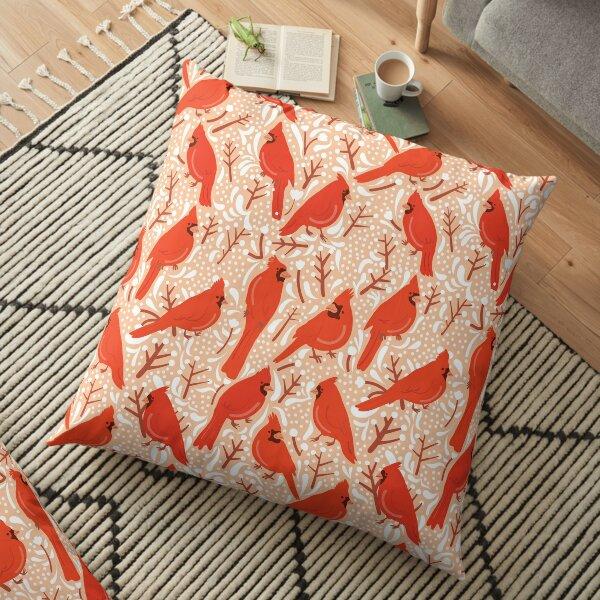 Cardinal winter bliss Floor Pillow