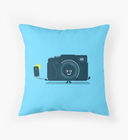 Character Building - Selfie camera Throw Pillow