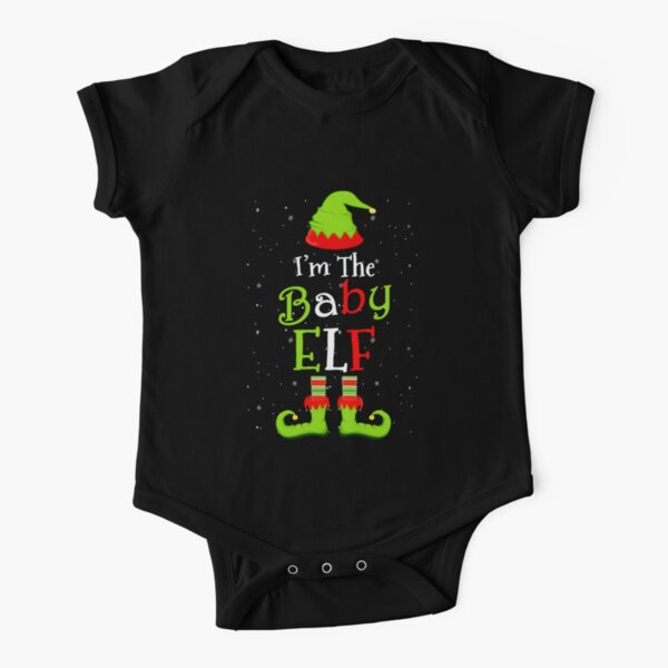 I'm The Baby Elf Family Matching Funny Christmas Group Gift Short Sleeve Baby One-Piece