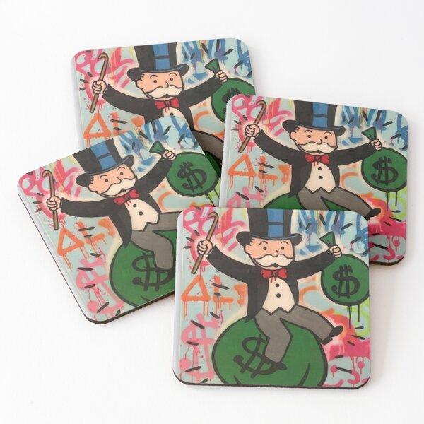 supreme, funny, meme, cool, happy, trendy, bape, chance the rapper, hypebeast, logo,gtyy Coasters (Set of 4)