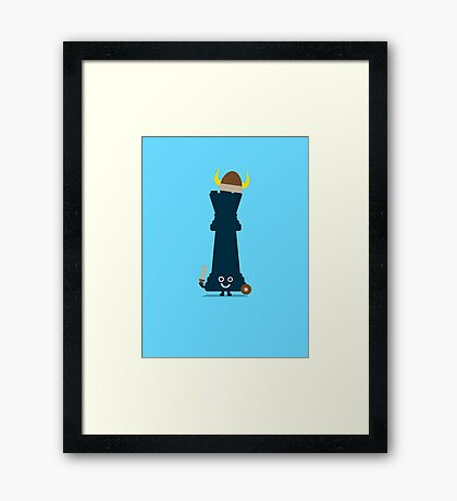 Character Building - Chess piece Framed Print