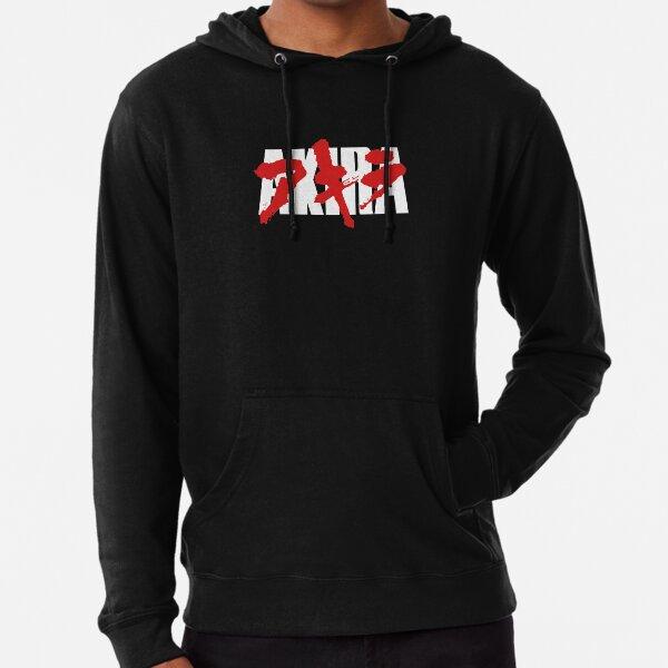 T-shirt noir sang Akira Sweat à capuche léger