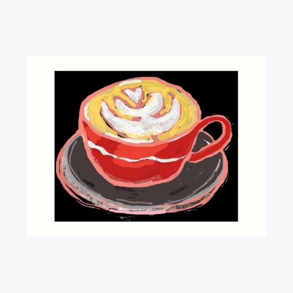 Red Cup Latte Rosetta Art Print