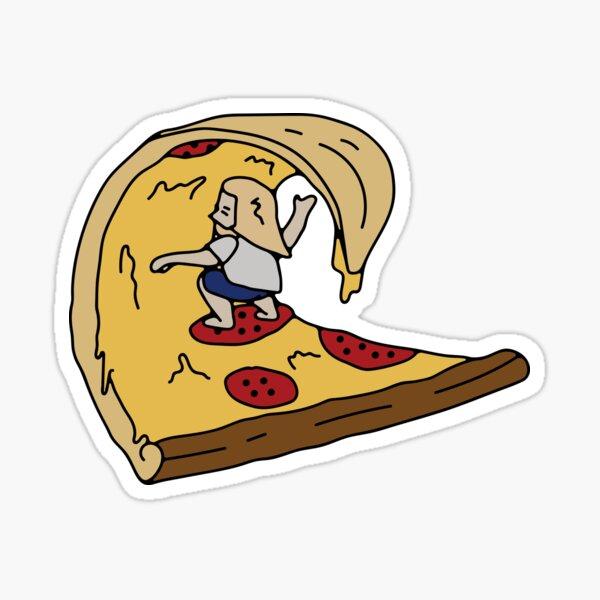 Pizza - Surf Pegatina