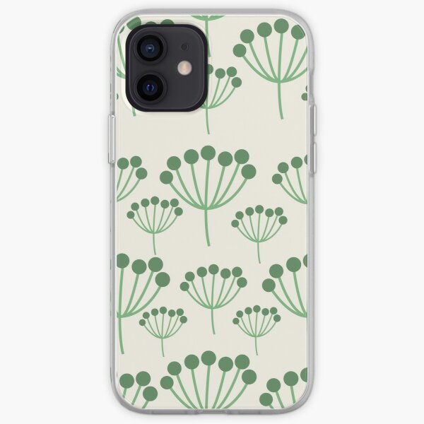Green Floral iPhone Soft Case