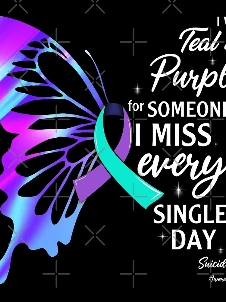 Best Wear Teal Purple Butterfly Suicide Prevention Shirt Memorial Awareness Month T Shirt by tuanitus