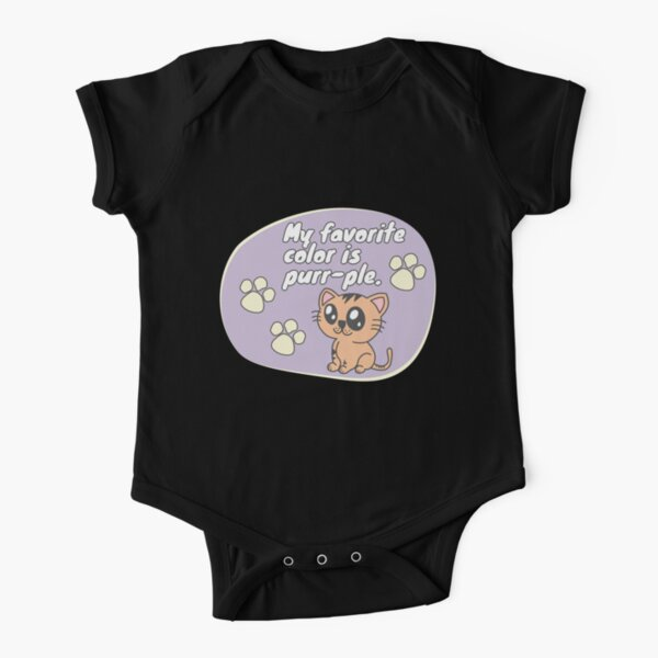 Favorite color Short Sleeve Baby One-Piece