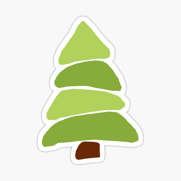 Undecorated Christmas Tree Sticker