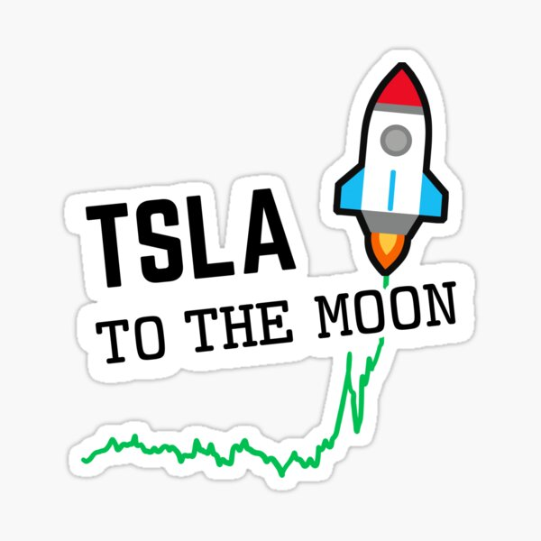 Tesla to the Moon Sticker