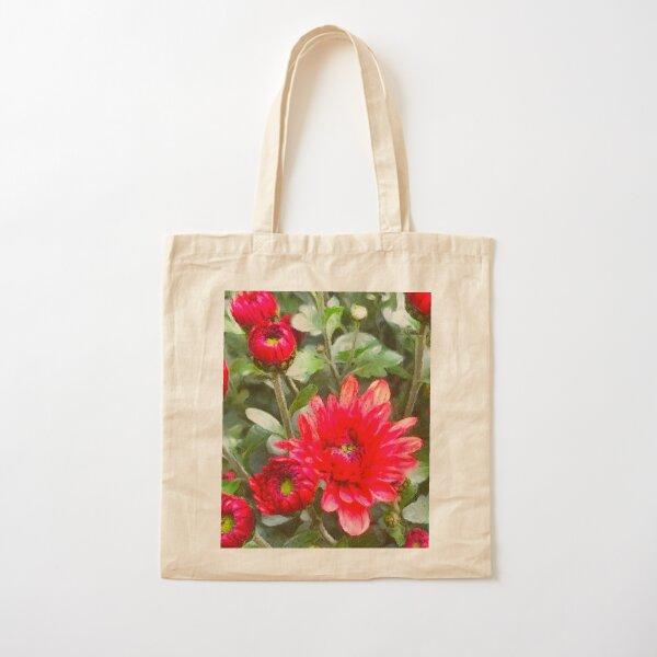 Chrysanthemums Digital Photo Art Cotton Tote Bag