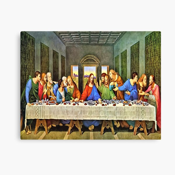 The Laat Supper Of Jesus Canvas Print