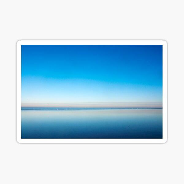 Blue Beach - Horizon Line  Sticker