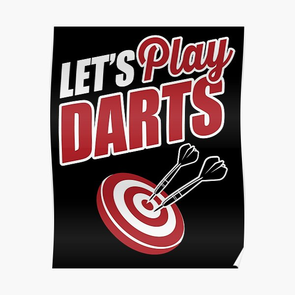 Let's play darts Poster