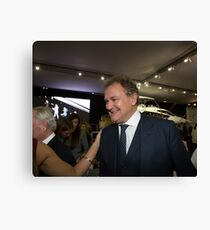 Hugh Bonneville British actor from Downton Abbey  Canvas Print
