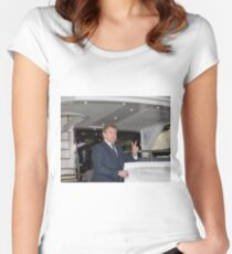 Hugh Bonneville British actor from Downton Abbey  Women's Fitted Scoop T-Shirt