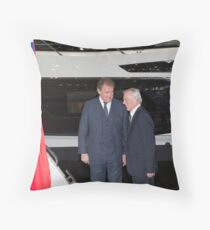 Hugh Bonneville British actor  from Downton Abbey  Throw Pillow