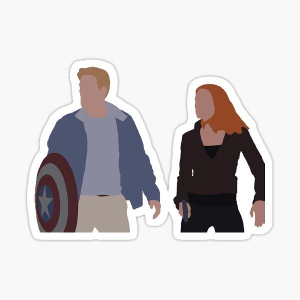 Captain America & Black Widow Sticker