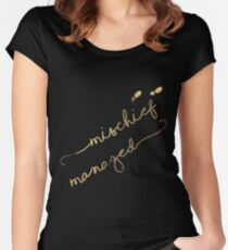 Mischief Managed (black) Women's Fitted Scoop T-Shirt
