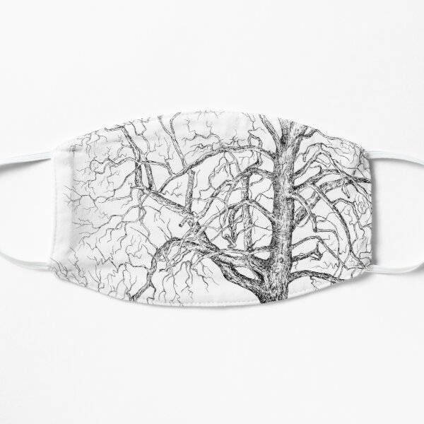 graphic black and white tree with bare branches Mask