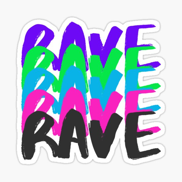 Rave in Colours Sticker