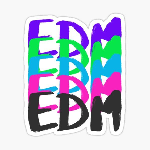 EDM in Colours Sticker