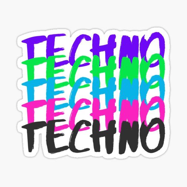 Techno in Colours Sticker
