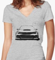 Subaru WRX STi Women's Fitted V-Neck T-Shirt