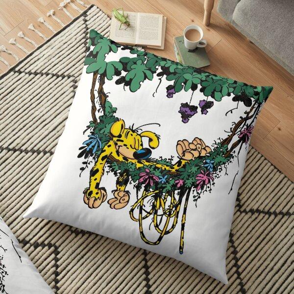 Marsupilami in hammock Floor Pillow