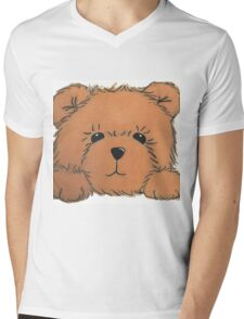 Teddy Bear Mens V-Neck T-Shirt