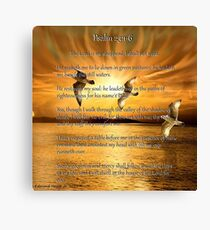 Psalm 23:1-6 The Lord Is My Shepard Canvas Print
