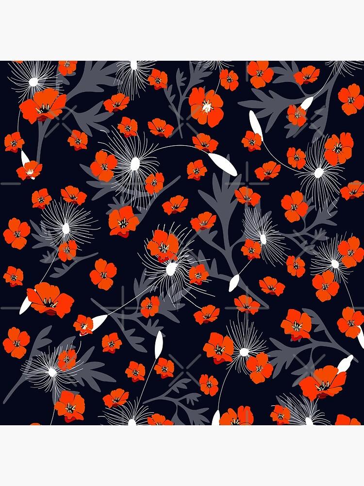 Tangerine Dandelion by MyMadMerch