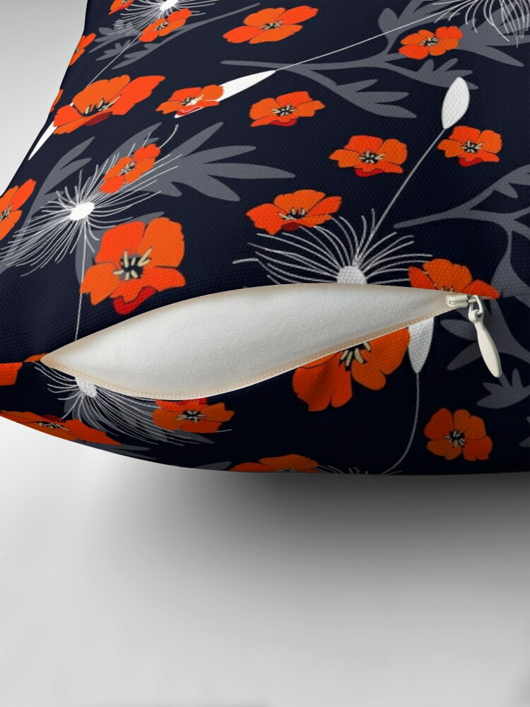 Alternate view of Tangerine Dandelion Floor Pillow