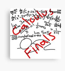 Calculus Finals Canvas Print
