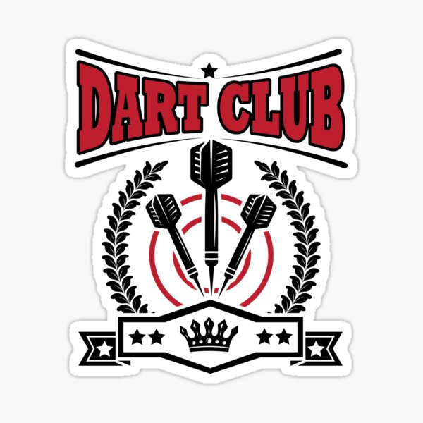 Dart Club Sticker