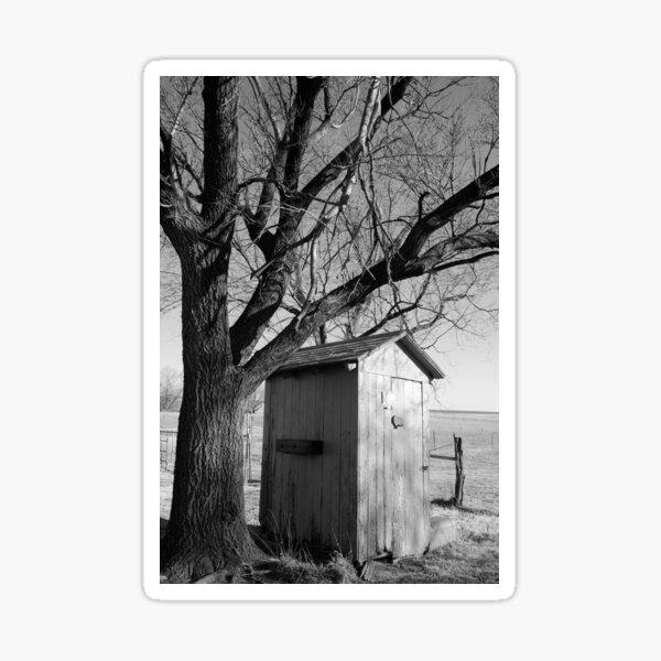 Outhouse on the Kansas Prairie Sticker