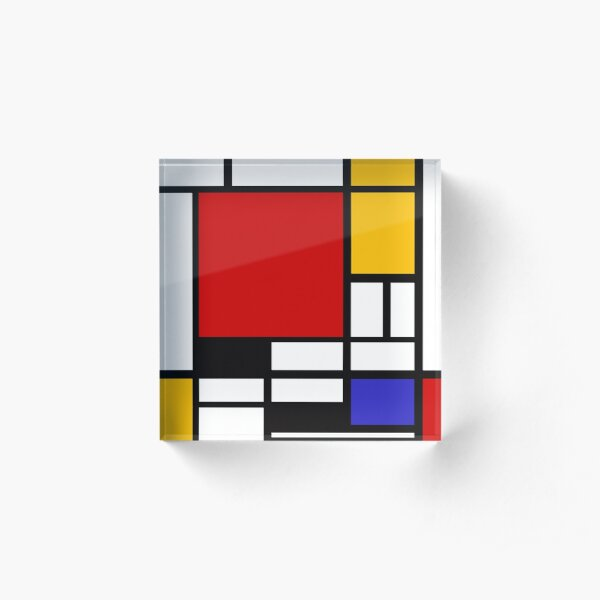 Piet Mondrian - Composition with Red, Yellow, and Blue 1942 Artwork Acrylic Block