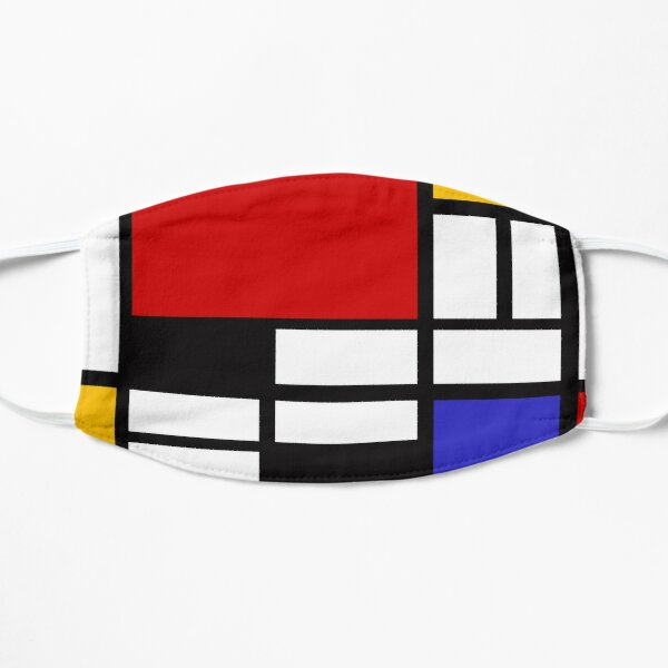 Piet Mondrian - Composition with Red, Yellow, and Blue 1942 Artwork Flat Mask