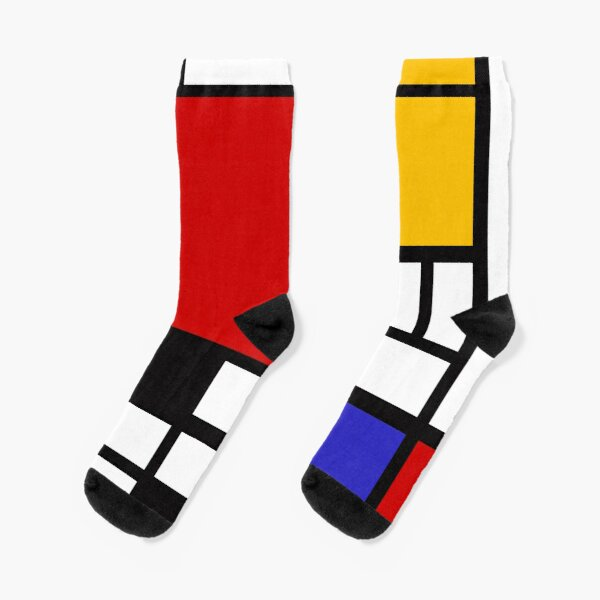 Piet Mondrian - Composition with Red, Yellow, and Blue 1942 Artwork Socks