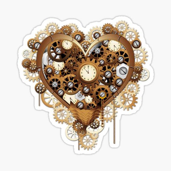 Heart Steampunk Love Machine Sticker