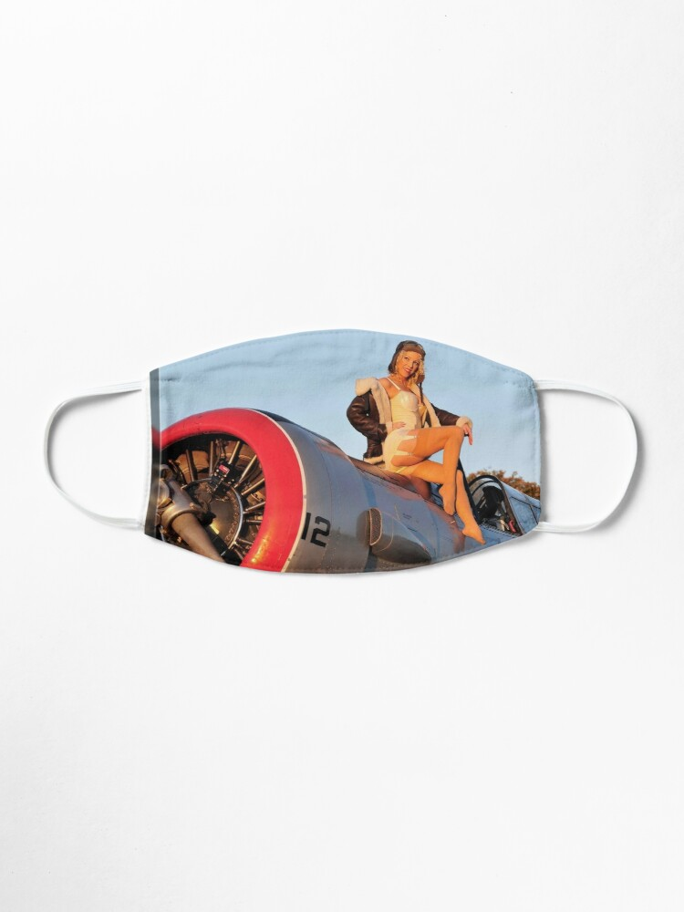 Pin up Girl Airplane Mask