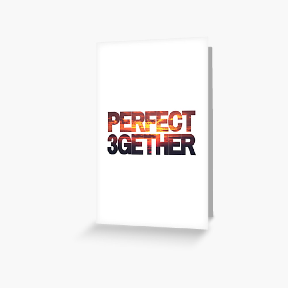 PERFECT 3GETHER SUNSET | THROUPLE | TRIAD | POLYAMORY Greeting Card