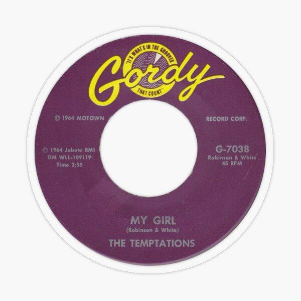 The Temptations My Girl label Transparent Sticker