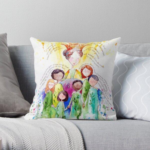 Isaiah 61 Woman Throw Pillow