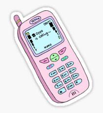"""Oppa is calling~"" - pastel phone. Sticker"