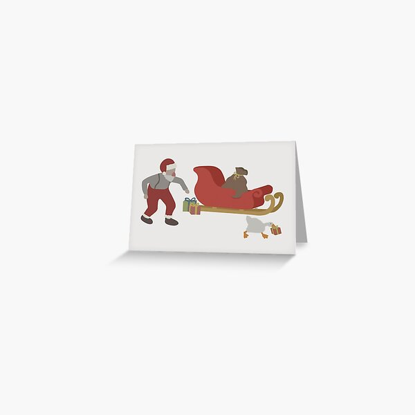 How The Goose Stole Christmas - Goose Game Greeting Card
