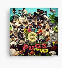 SGT PUGS LONELY HEARTS PUG BAND Canvas Print