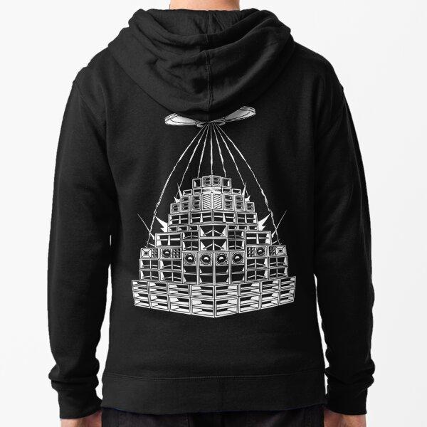 DMT Alien UFO Sound System Veste zippée à capuche
