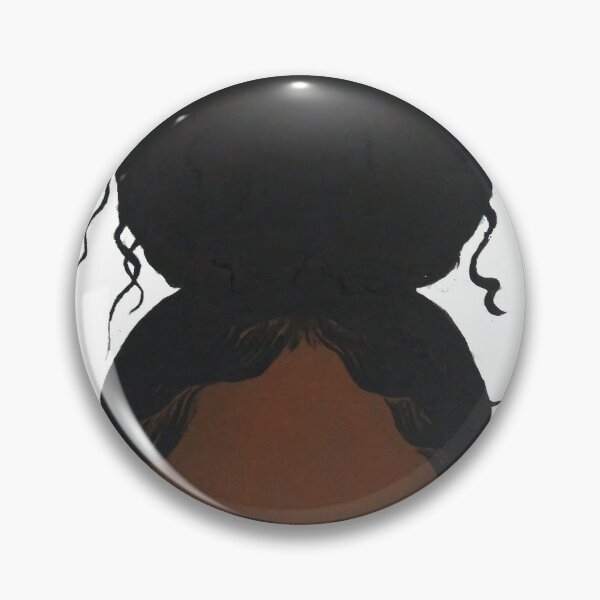 Black girl headshot Pin