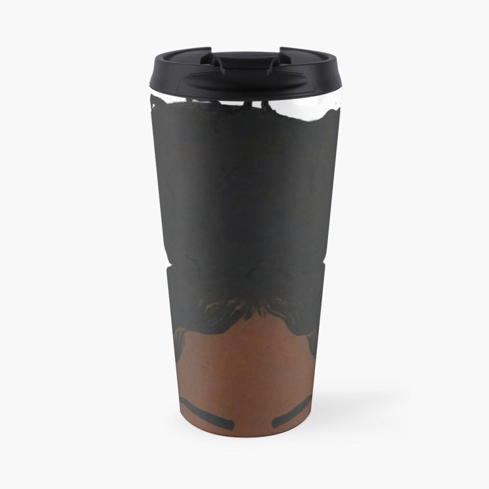 Black girl headshot Travel Mug